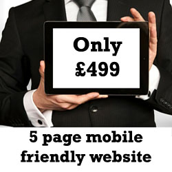 Mobile friendly website design offer