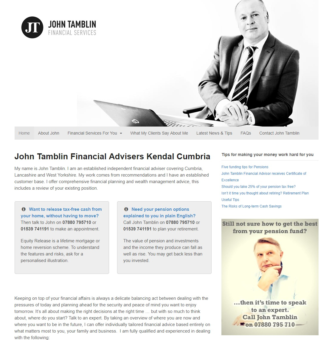 John Tamblin Financial Advisers Kendal
