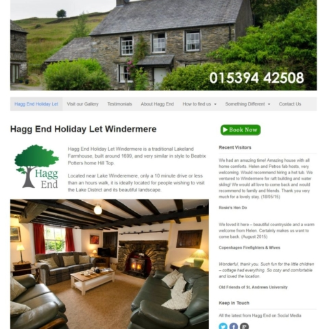 Hagg End Holiday Let Windermere