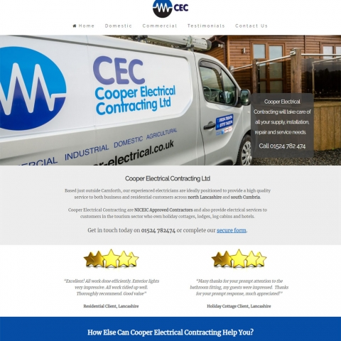Cooper Electrical Website Design