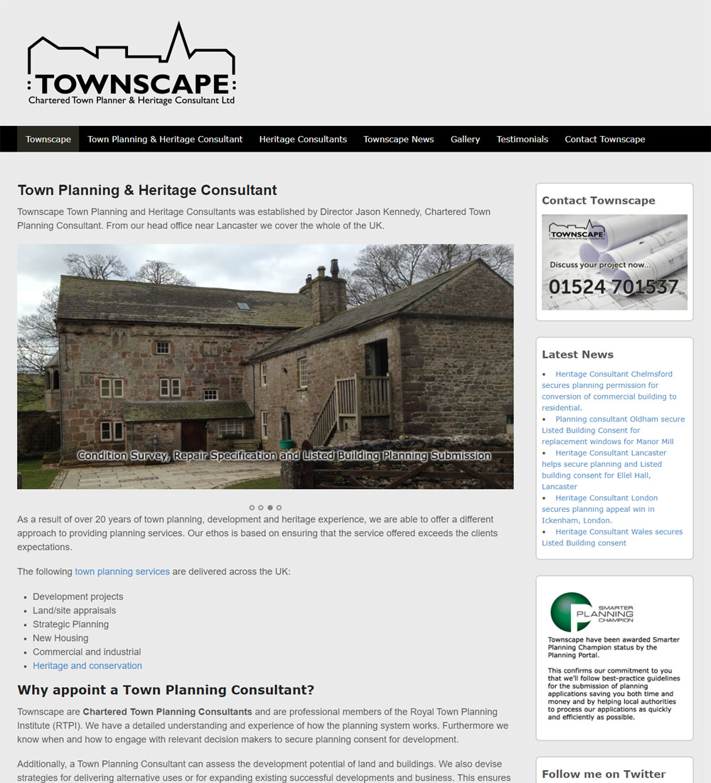 Townscape website design
